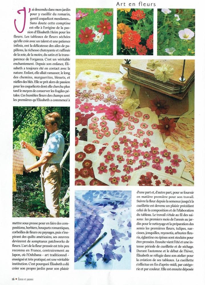Paru dans Fleurs et Jardin 1 r