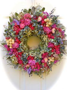 roses et gypsophile séchées