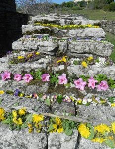 décor escalier de ruines