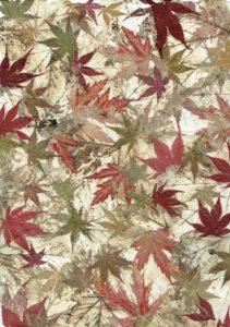 impression tissus feuilles d'erables