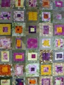 tissus de fleurs géométrique