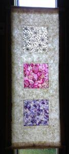 tissus de fleurs en transparence